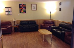 Family Room at New Starts Women's Shelter
